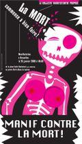 Manifestation contre la mort, affiche Hélène Taquet, © Droits réservés