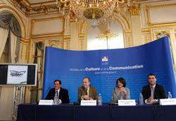 Conférence de presse du ministre de la Culture © Didier Plowy/MCC.