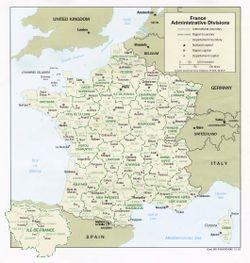 Carte de la France © Droits réservés
