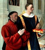 Étienne Chevalier présenté par saint Étienne, J. Fouquet © Istituto Geografico De Agostini