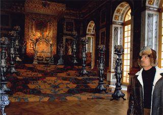 Visite du Colonel Kadhafi au château de Versailles en 2007 © DR